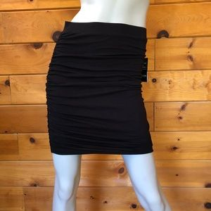 Guess NWT Black Tamie Ruched Pull On Pencil Skirt